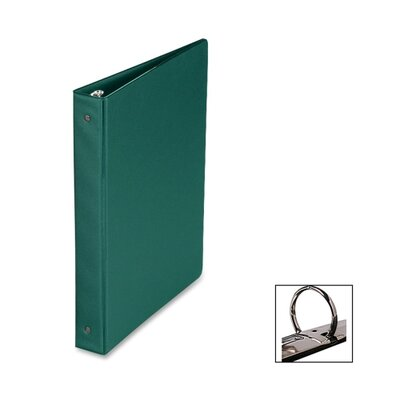 "Business Source Round Ring Binder, 1"" Capacity, 11""x8-1/2"", Green"