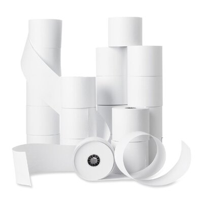 "Business Source Machine Roll, Single-Ply, 2-1/4""x150', 100 Count, White"