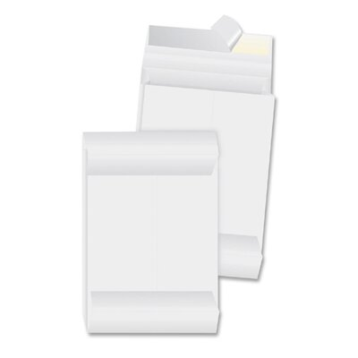 "Business Source Tyvek Envelopes, Plain, 10""x13""x1-1/2"", 100 Count, White"