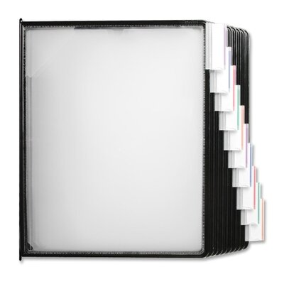 Business Source Replacements Panels, f/ Basic/Deluxe Catalog Racks, Clear/Black