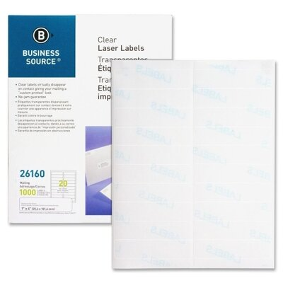 Business Source Mailing Label (1000 Per Box)
