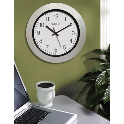 "La Crosse Technology 14"" Atomic Wall Clock in White Pearl"