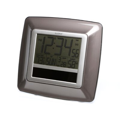 crosse technology solar atomic digital wall clock reviews wayfair