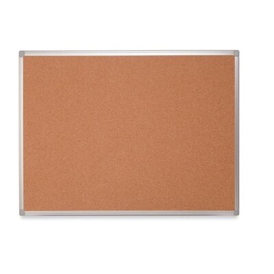 "Bi-silque Visual Communication Product, Inc. Mastervision 48"" Earth Cork Board with Aluminum Frame"