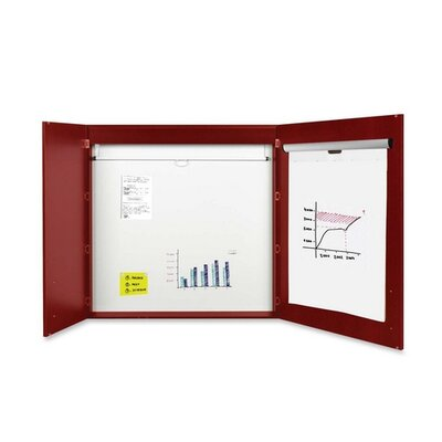 Bi-silque Visual Communication Product, Inc. 2-door Cherry Conference Cabinet