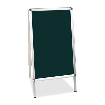 "Bi-silque Visual Communication Product, Inc. Mastervision 2' 9"" x 1' 9"" Chalkboard"