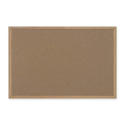 "Bi-silque Visual Communication Product, Inc. Mastervision 72"" Wide Wood Frame Earth Cork Board"