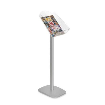 Contemp. Freestanding Literature Holder, w/Acrylic Holder, 11-1/4