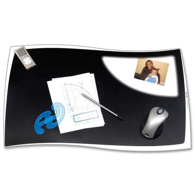 "Cep Solid Black Desk Mat, 24-4/5""x16-1/2"", .55mm Thick, Black"