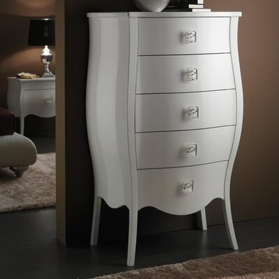 YumanMod Victoria 5 Drawer Tall Chest