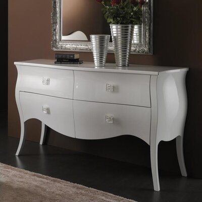 YumanMod Victoria 4 Drawer Double Dresser
