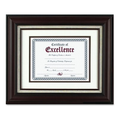 "The Burns Group Wall Frame, with Lined Insert, 11""x14"", Mahogany"