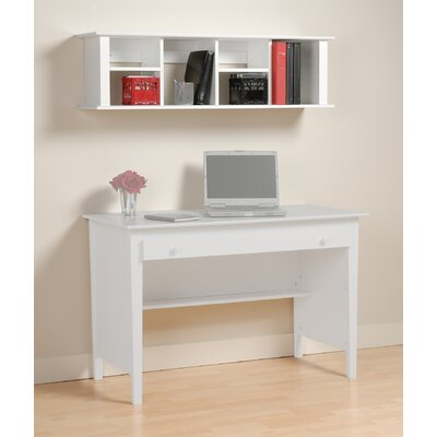 "Prepac Belcarra Contemporary 13"" H x 48"" W Desk Hutch"