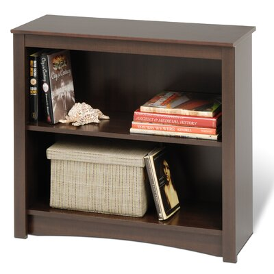 Prepac Bookcase with Two Shelves in Espresso