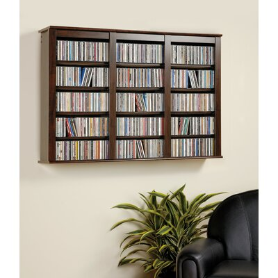 Prepac Triple Media Multimedia Wall Mounted Storage Rack