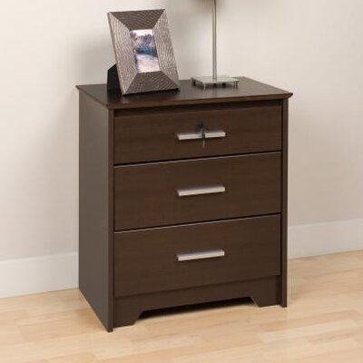 Prepac Coal Harbor 3 Drawer Nightstand