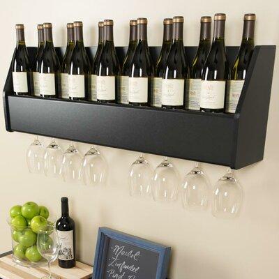 Prepac Floating 18 Bottle Wall Mount Wine Rack