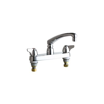 Chicago Faucets Double Handle Centerset Kitchen Faucet with Wing Canopy Handles
