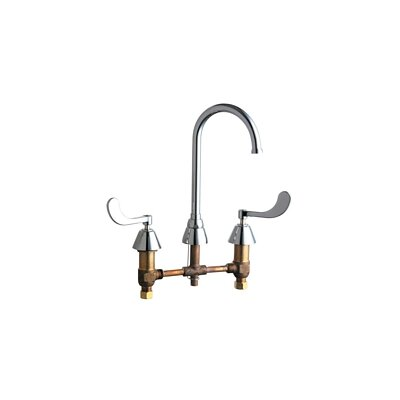Concealed Double Handle Widespread Kitchen Faucet with Gooseneck Spout