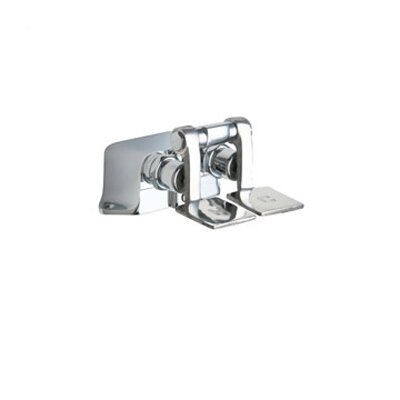 Chicago Faucets 625 Floor Mount Double Pedal Self Closing Valve in Chrome