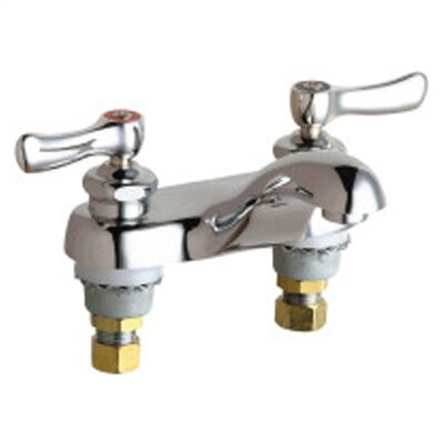 Centerset Bathroom Faucet with Double Lever Handles - 802-CP