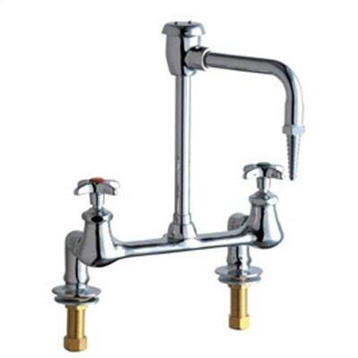 Laboratory Deck Mounted Faucet with Vacuum Breaker Spout and Double Cross Handle