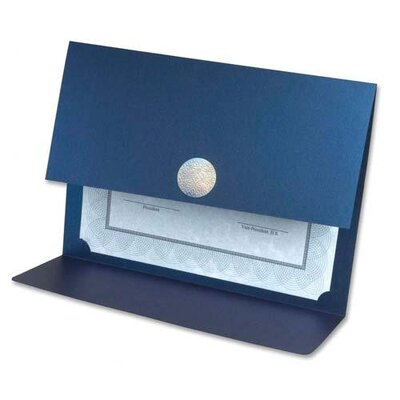 "First-Base Certificate Holders,12-1/2""x9-3/4"",3/PK,MetallicMajesticBlue"