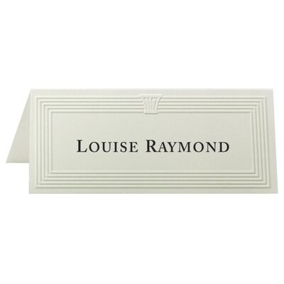 "First-Base Place Cards, 6 Per Page, Fold to 1-13/16""x4-1/4"", Ivory"