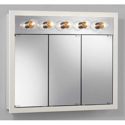 Broan Nutone Surface Mount Cabinet with Five Bulbs in White