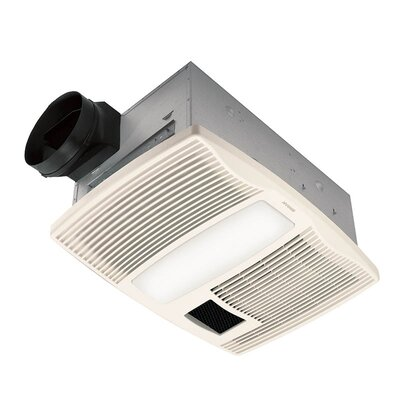 Ultra Silent 110 CFM Bathroom Fan with Heater and Light