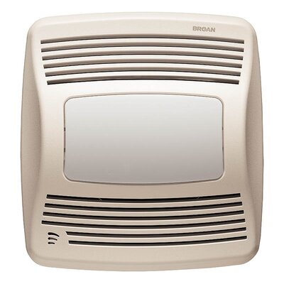 Broan Nutone Ultra Silent 110 CFM Energy Star Humidity Sensing Bathroom Fan with Fluorescent Light