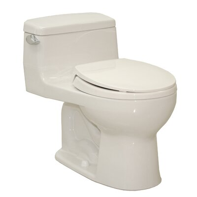 Supreme Power Gravity Low Consumption 1.6 GPF Round 1 Piece Toilet