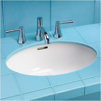 ADA Compliant Rimless Undermount Bathroom Sink with SanaGloss Glazing - LT548G