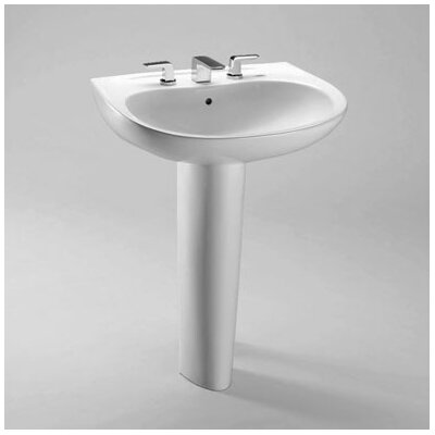 Prominence Pedestal Bathroom Sink with Sanagloss - LPT242.4G