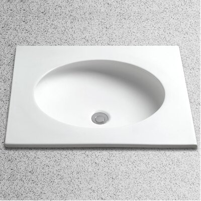 Toto Curva Self Rimming Bathroom Sink with Overflow