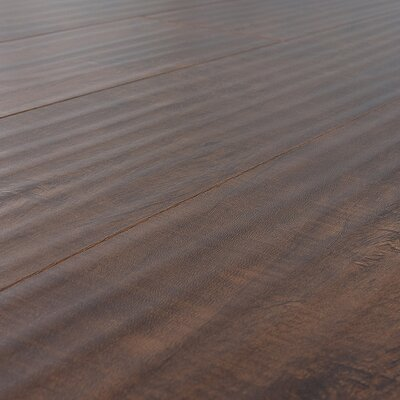 Lamton SAMPLE - 12 mm Handscraped Laminate with Beveled Edge in Distressed Mocha