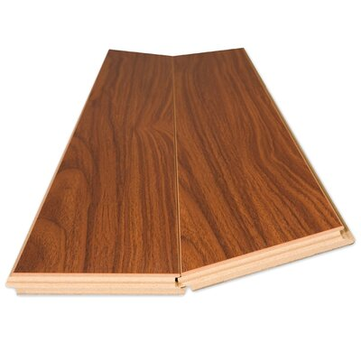 Lamton 12mm Narrow Board Mahogany Laminate in Odessa