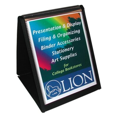 "Lion Office Products Flip-N-Tell Vertical Easel, 11""x8-1/2"", Black"
