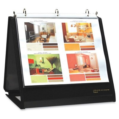 "Lion Office Products Ring Binder Easel, 3/4"" Cap, Horizontal, 11""x8-1/2"", Black"