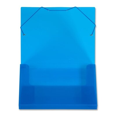 "Lion Office Products Translucent Document Files, 1"" Capacity, 13""x1""x9-3/4"", Blue/Clear"