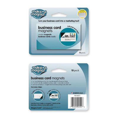 "Magna Card Inc Business Card Magnets, 2""x3-1/2"", 10/PK"