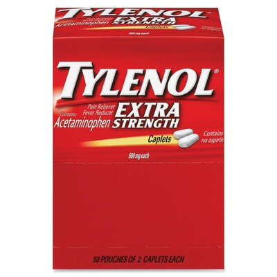 McNeil Industries Tylenol Extra Strength Caplet Refill (Set of 2)