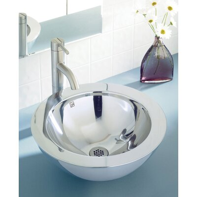"DecoLav Simply Stainless 15.5"" Double Walled Vessel Sink with Overflow"