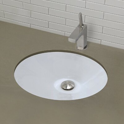 Classically Redefined Oval Undermount Bathroom Sink - 1412