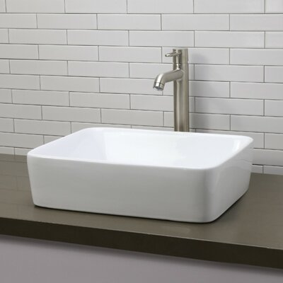 DecoLav Classically Redefined Rectangular Vessel Bathroom Sink