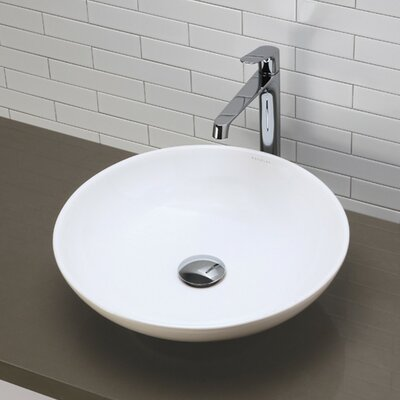 Classically Redefined Round Vessel Bathroom Sink - 1467-CWH