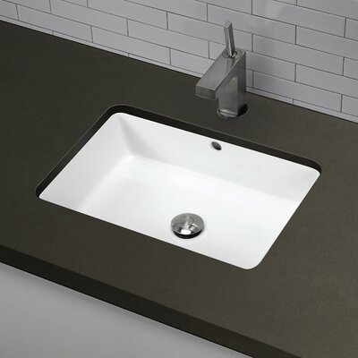 Classically Redefined Rectangular Undermount Bathroom Sink - 1482-CWH