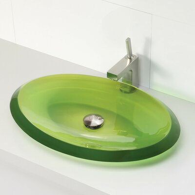 DecoLav Incandescence Oval Vessel Bathroom Sink