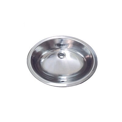 Simply Stainless Drop-In/Undermount Bathroom Sink with Overflow - 1300