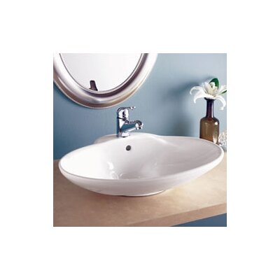 Classically Redefined Oval Ceramic Vessel Sink with Overflow - 1411-CWH
